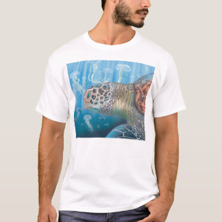 Greenback turtle and jellyfish T-Shirt