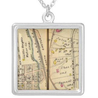 Greenburg, New York 11 Silver Plated Necklace