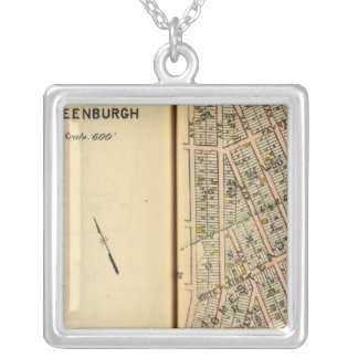 Greenburg, New York 12 Silver Plated Necklace
