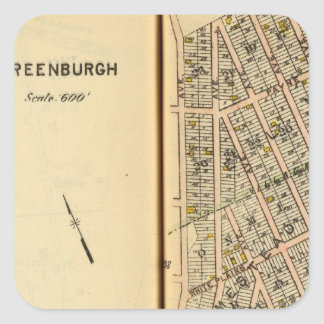 Greenburg, New York 12 Square Sticker