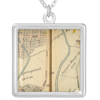 Greenburg, New York 13 Silver Plated Necklace