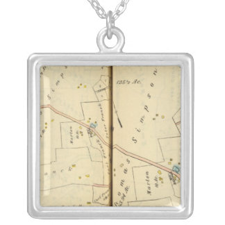 Greenburg, New York 2 Silver Plated Necklace