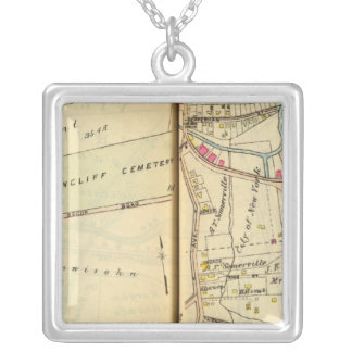 Greenburg, New York 3 Silver Plated Necklace