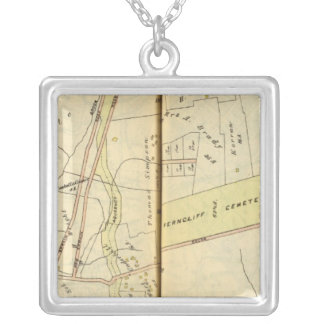 Greenburg, New York 4 Silver Plated Necklace