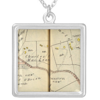 Greenburg, New York 5 Silver Plated Necklace