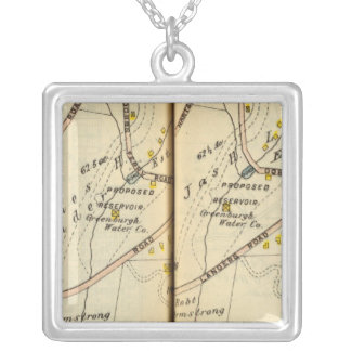 Greenburg, New York 6 Silver Plated Necklace