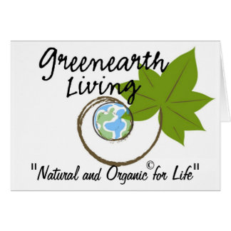 Greenearth Living Logo Products Greeting Card