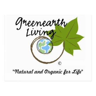 Greenearth Living Logo Products Postcard