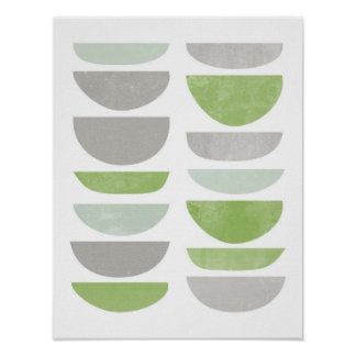 greenery, abstract, scandinavian poster print