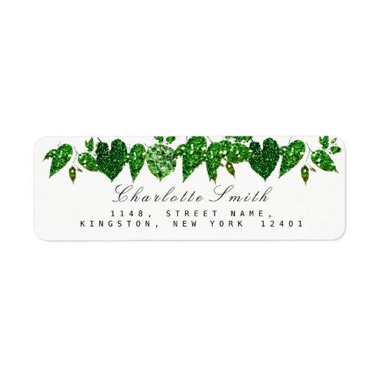 Greenery Cali Green Glitter Woodland Ivy Leaf RSVP