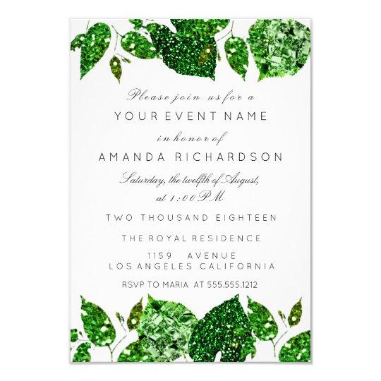 Greenery Cali Green Glitter Woodland Ivy Leafs Eve