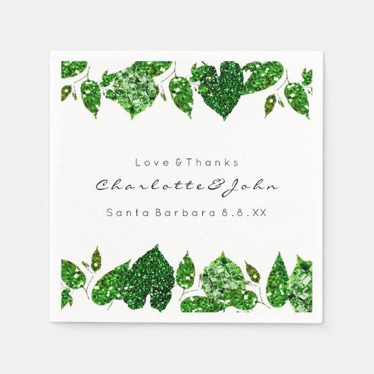 Greenery Cali Green Glitter Woodland Ivy Leafs Paper