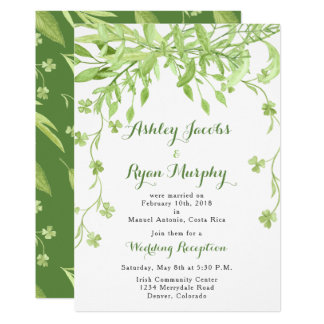 Greenery Floral Post Wedding Reception Only Card