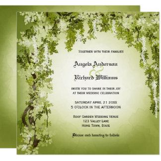 Greenery Garden or Woodland Wedding Invitation