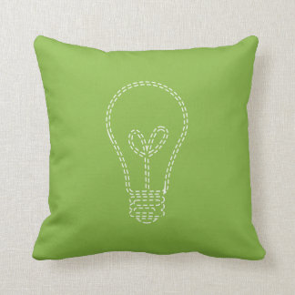 Greenery Lightbulb Throw Pillow