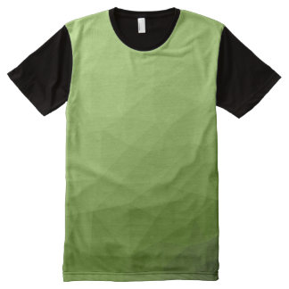 Greenery ombre gradient geometric mesh All-Over print T-Shirt