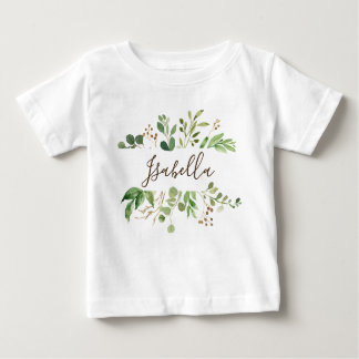 Greenery personlized baby baby T-Shirt