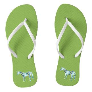 Greenery Unicorn Flip Flops