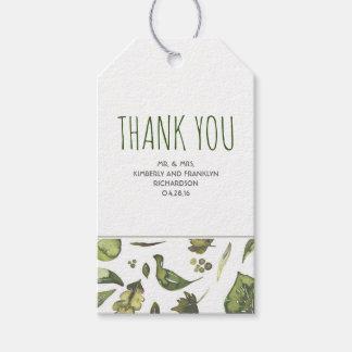 Greenery Watercolor Modern Rustic Wedding Gift Tags