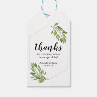 Greenery  Wedding Favor Gift Tag botanical