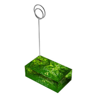 Greenery Wedding Table Card Holder