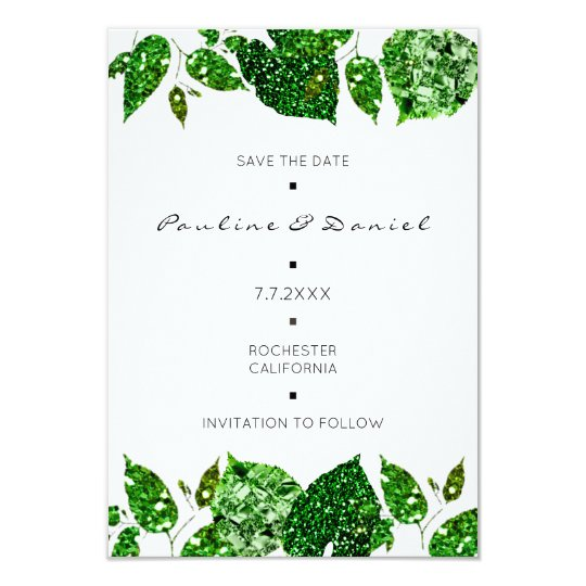 Greenery Woodland Green Monstera Save The Date Card