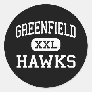 Greenfield - Hawks - High - Greenfield Wisconsin Round Sticker