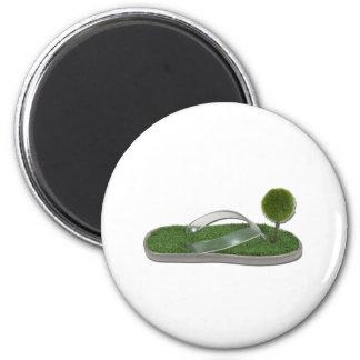 GreenFootprint112311 6 Cm Round Magnet