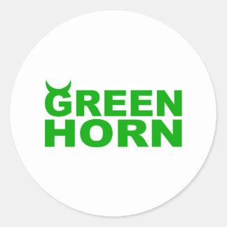 greenhorn classic round sticker