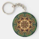 Greenie 1 Mandala Keychain