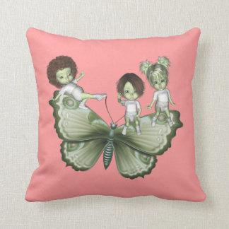 GreenieBabies Butterfly American MoJo Pillow Throw Cushions