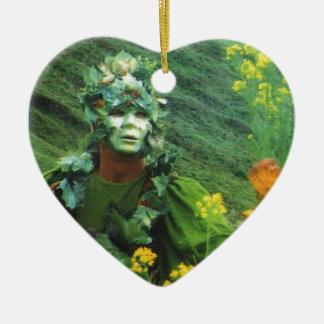 Greening Man - Renewal Ceramic Heart Decoration