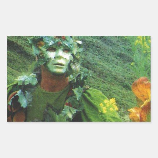 Greening Man - Renewal Rectangle Stickers