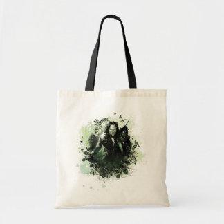 Greenish Aragorn Vector Collage Budget Tote Bag