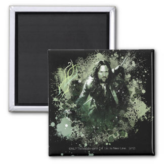 Greenish Aragorn Vector Collage Magnet