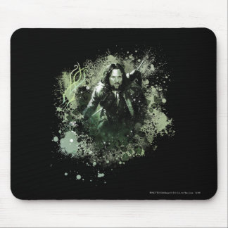 Greenish Aragorn Vector Collage Mouse Mat