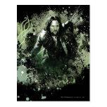 Greenish Aragorn Vector Collage Post Cards