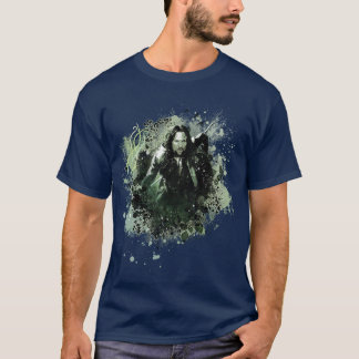 Greenish Aragorn Vector Collage T-Shirt