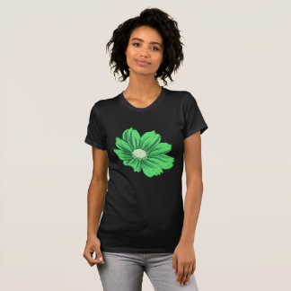 Greenish Blooming Flower T-Shirt