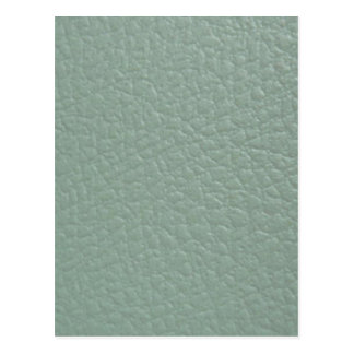 Greenish Grey Leather Look Finish Postcard