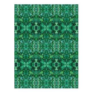 Greenish Kaleidoscope Design Pattern Postcard