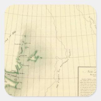 Greenland Atlas Map Square Sticker