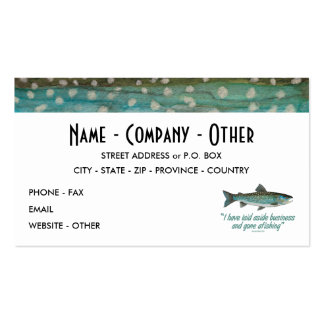 Greenland Char Fishing Pack Of Standard Business Cards
