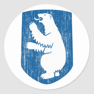 Greenland Coat Of Arms Round Sticker