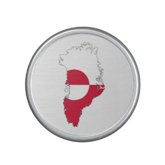greenland country flag map bluetooth speaker