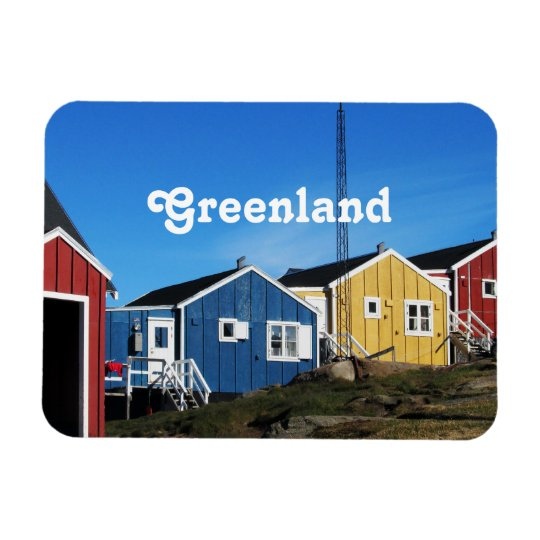 Greenland Countryside Rectangular Photo Magnet