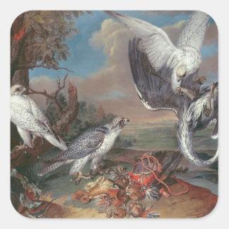 Greenland Cyr Falcons Square Sticker