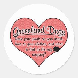 Greenland Dog Paw Prints Humor Stickers