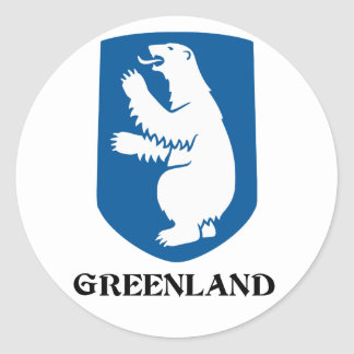 GREENLAND - emblem/symbol/coat of arms/flag Classic Round Sticker