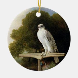Greenland Falcon (Grey Falcon), 1780 (oil on panel Christmas Ornament